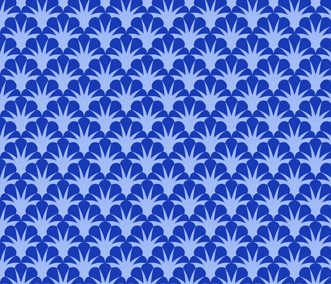 deco scallop blue fabric by minimiel on Spoonflower - custom fabric