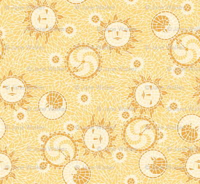 Mosaic Sun, Moon, and Gears ©2012 by Jane Walker