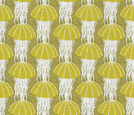 Jellyfish drift fabric by needlebook on Spoonflower - custom fabric