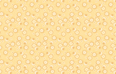 Mosaic Sun, Moon, and Gears -- Small version ©2012 by Jane Walker fabric by artbyjanewalker on Spoonflower - custom fabric