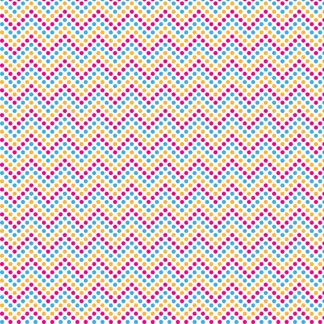 Zig Zag Polka Dots in Bunny fabric by marcelinesmith on Spoonflower - custom fabric