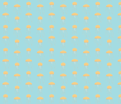 traveling jellyfish fabric by emilykguise on Spoonflower - custom fabric