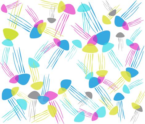jellyfish fabric by nioukniouk on Spoonflower - custom fabric