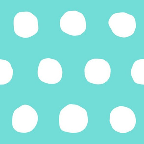 Jumbo Dots in aqua/white
