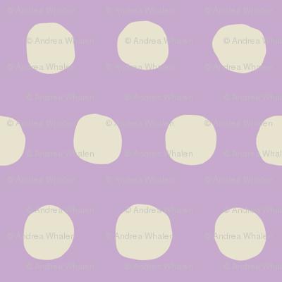 Jumbo Dots in lavender/natural