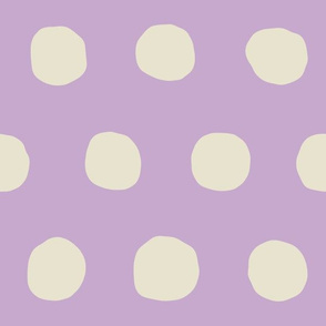 Jumbo Dots in lavender/natural