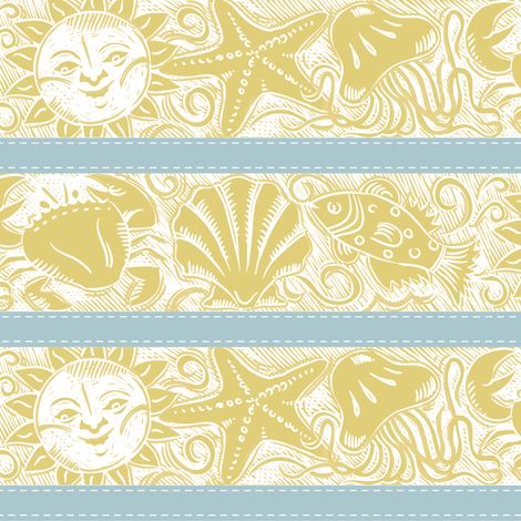 Beached Cotton fabric by dianne_annelli on Spoonflower - custom fabric