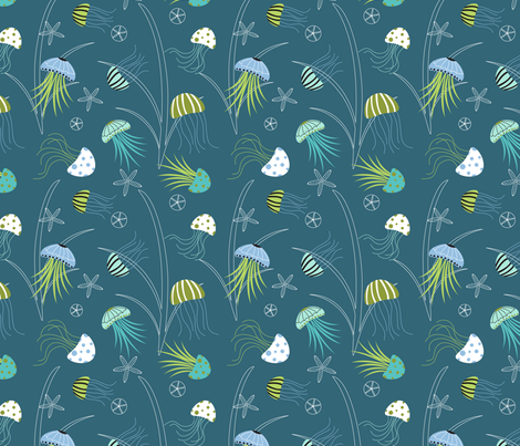 Jellyfish Fantasy fabric by lauriebaars on Spoonflower - custom fabric