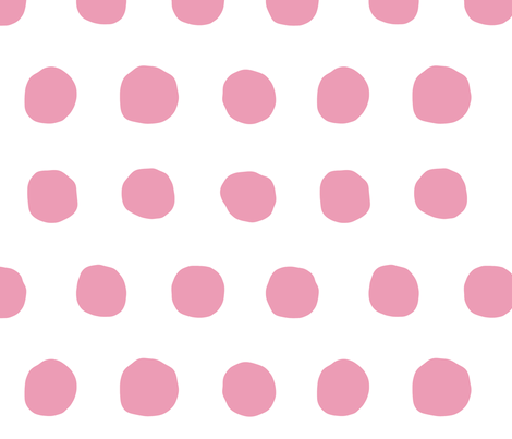 Jumbo Dots in peony/white fabric by domesticate on Spoonflower - custom fabric