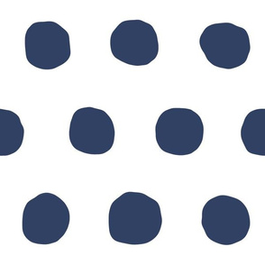 Jumbo Dots in navy/white