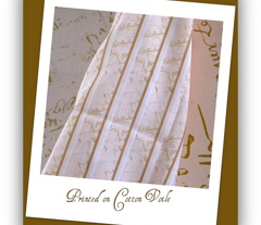 French Script Creamsicle Stripe fabric