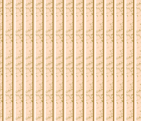 French Script Creamsicle Stripe fabric fabric by karenharveycox on Spoonflower - custom fabric