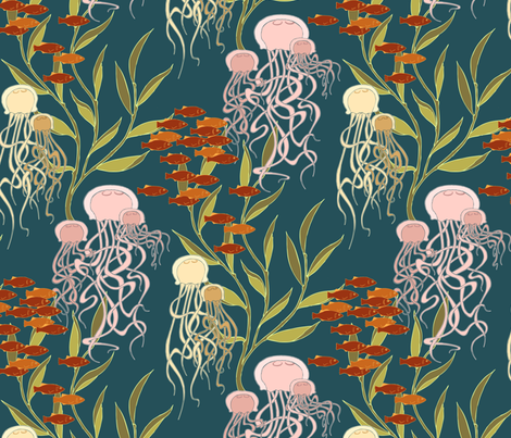 Medúzy fabric by meduzy on Spoonflower - custom fabric