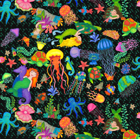 Underwater Adventure fabric by beebumble on Spoonflower - custom fabric
