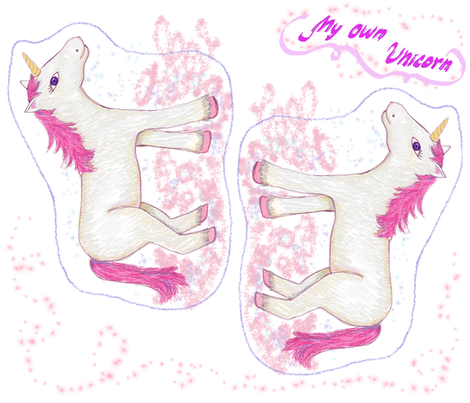 My very own Unicorn fabric by cushions_&_co on Spoonflower - custom fabric
