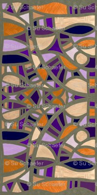 Gaudy Gaudi oranges and purples vertical