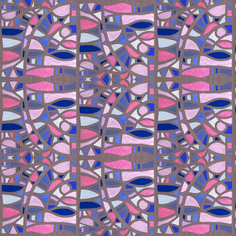 Gaudy Gaudi (apologies Picasso), small fabric by su_g on Spoonflower - custom fabric