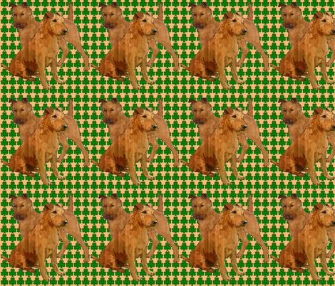 irish_terriers_with_shamrocks fabric by dogdaze_ on Spoonflower - custom fabric