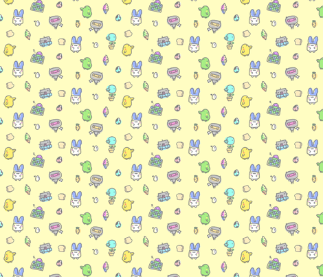 Kawaii Pets fabric by lovelylatte on Spoonflower - custom fabric