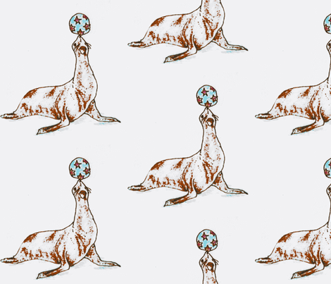 Trained Seals fabric by boris_thumbkin on Spoonflower - custom fabric