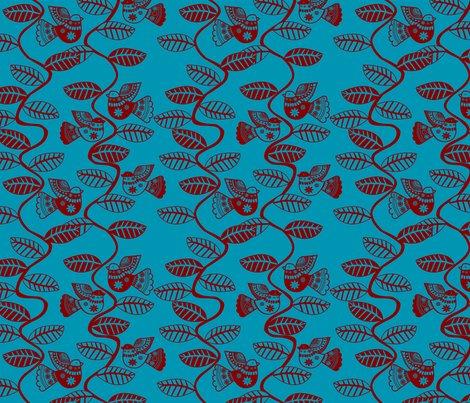 Roiseau_feuille_rouge_fond_turquoise_m_shop_preview