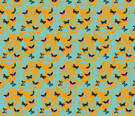 3D_butterflies fabric by podaiboo on Spoonflower - custom fabric