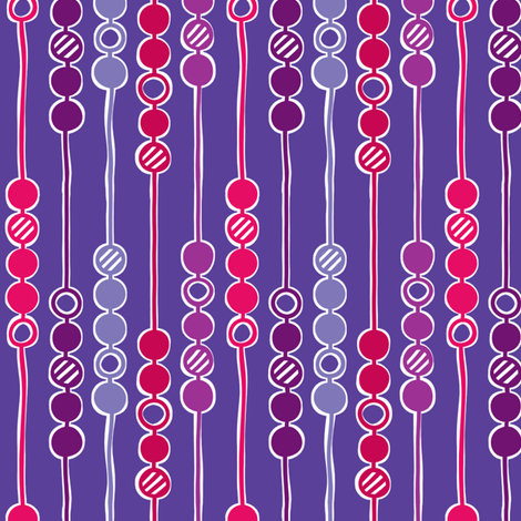 Mod Beads (Piccadilly Punch) fabric by leighr on Spoonflower - custom fabric