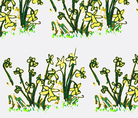 Daffodils fabric by boris_thumbkin on Spoonflower - custom fabric