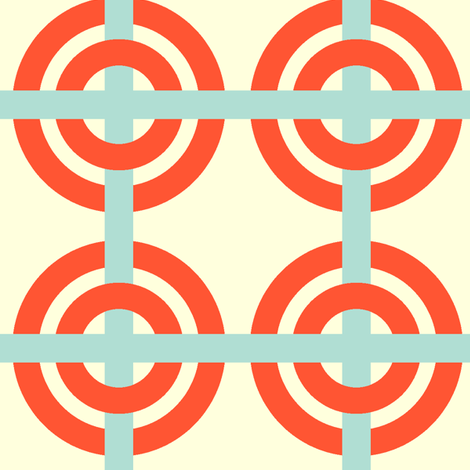 Orange mod circles fabric by fable_design on Spoonflower - custom fabric
