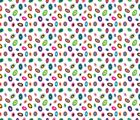 Peacock Dot fabric by lesley_grainger on Spoonflower - custom fabric