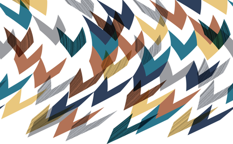 Curvy Chevrons fabric by stephanie on Spoonflower - custom fabric