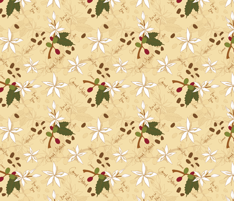 Coffee Arabica fabric by mysteek on Spoonflower - custom fabric