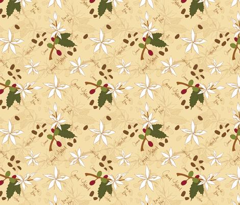 Coffee Arabica fabric by mysteek on Spoonflower - custom fabric