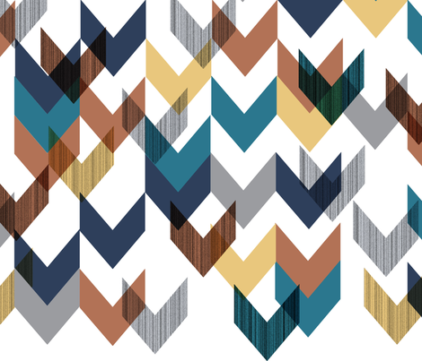 Non-Curvy Chevrons fabric by stephanie on Spoonflower - custom fabric