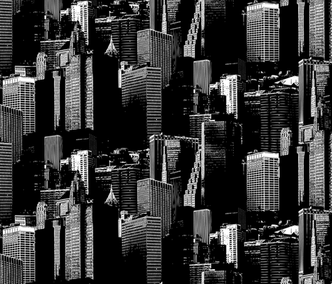 NYC Dark fabric by chris on Spoonflower - custom fabric