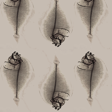 fishbone repeat fabric by nalo_hopkinson on Spoonflower - custom fabric