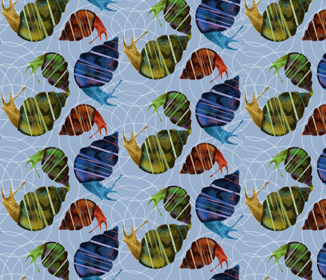 ditsy snails fabric by jessamarie on Spoonflower - custom fabric