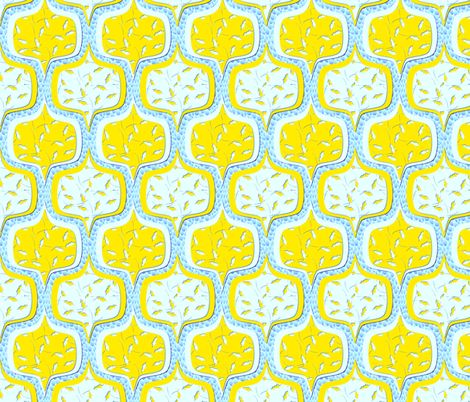 moderne lemon ciel fabric by glimmericks on Spoonflower - custom fabric