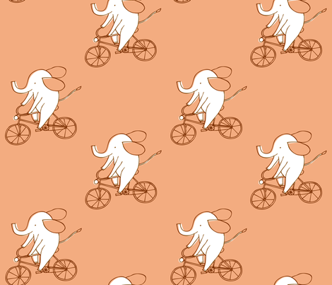 Elebike fabric by niseemade on Spoonflower - custom fabric