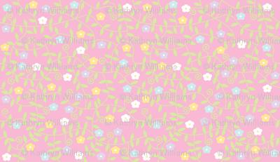 Disty Pastel Flowers