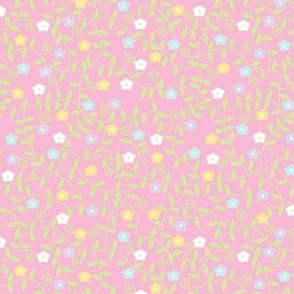 Disty Pastel Flowers
