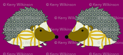PennyDog Illustration - Hedgehogs