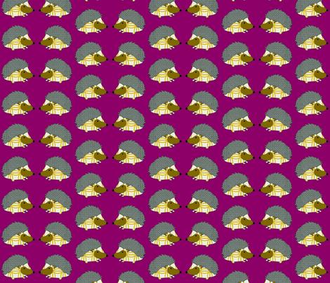 PennyDog Illustration - Hedgehogs fabric by pennydog on Spoonflower - custom fabric