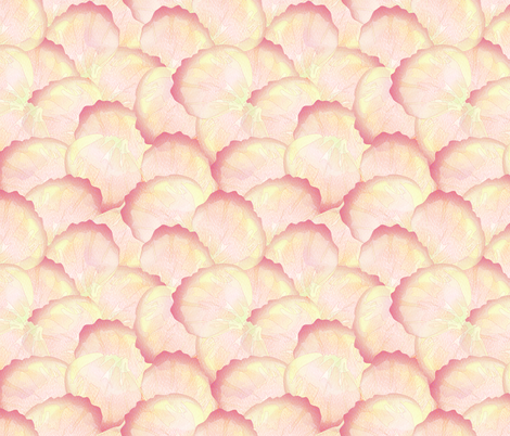 rose petals peach fabric by glimmericks on Spoonflower - custom fabric