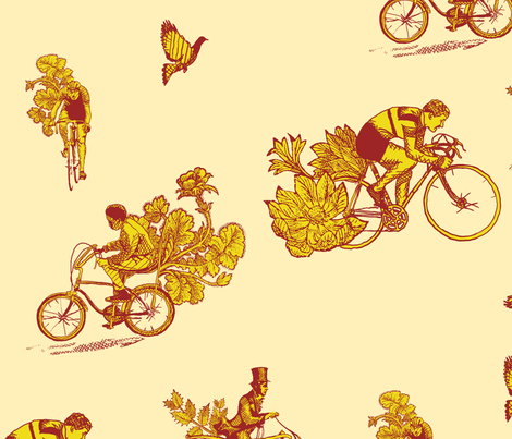 Timeline of the Bicycle fabric by mattmanson on Spoonflower - custom fabric