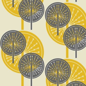 Dandelion grey and yellow