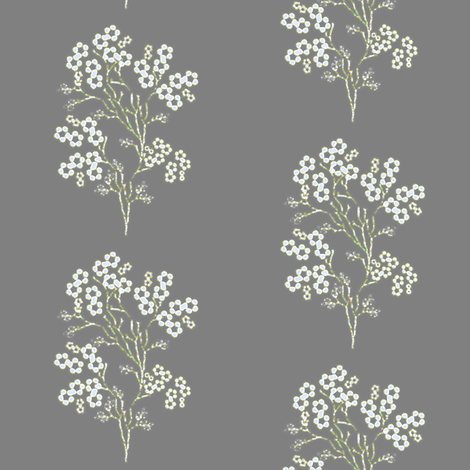 Dried Forget Me Nots fabric by joanmclemore on Spoonflower - custom fabric