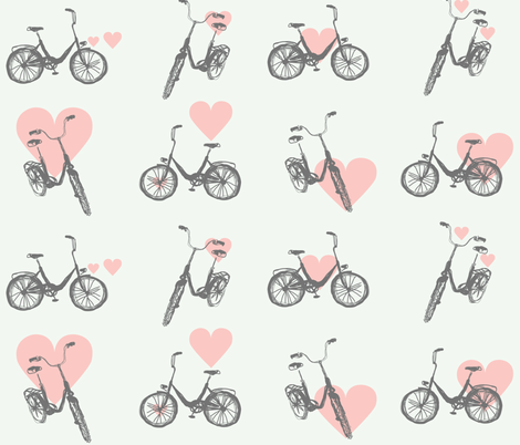 bike_love fabric by p_kok on Spoonflower - custom fabric
