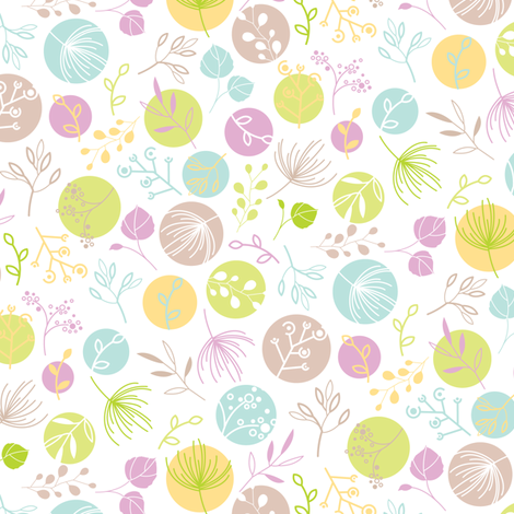 Mini Mod Leaf_plum fabric by wddesign on Spoonflower - custom fabric