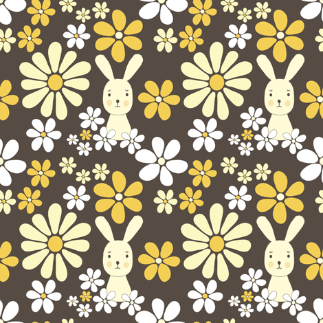 easterrabbit fabric by lilliblomma on Spoonflower - custom fabric